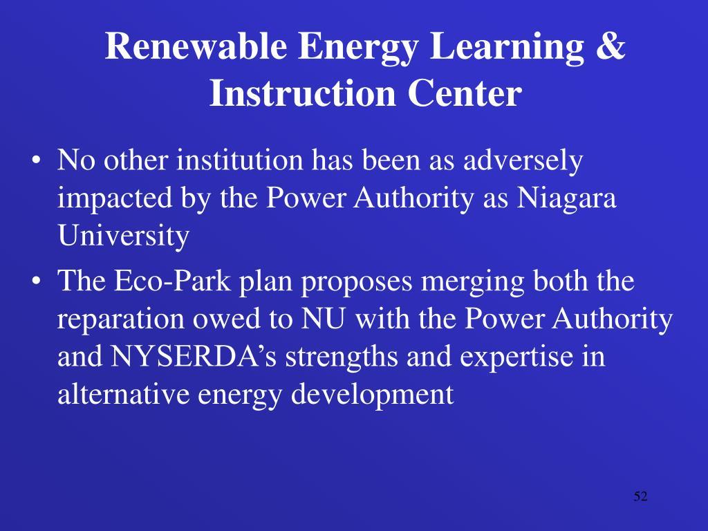 Renewable Energy Learning & Instruction Center