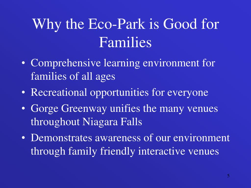 Why the Eco-Park is Good for Families