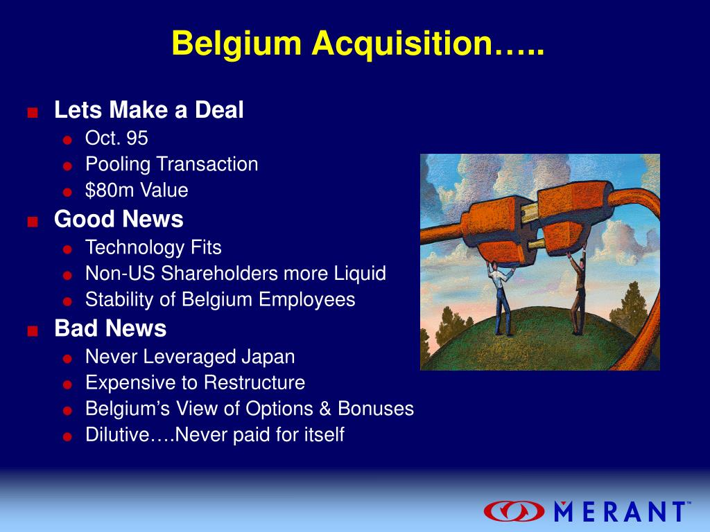 Belgium Acquisition…..