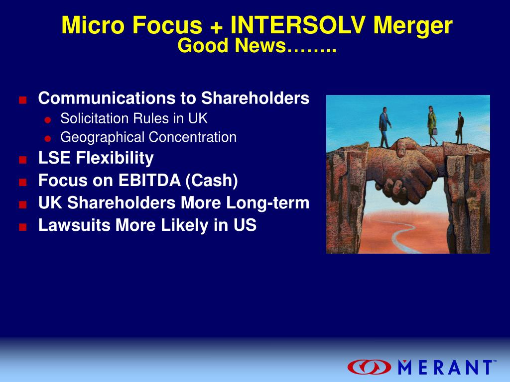 Micro Focus + INTERSOLV Merger