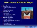 micro focus intersolv merger