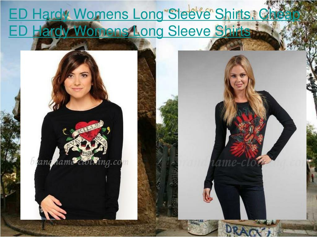 ED Hardy Womens Long Sleeve Shirts, Cheap ED Hardy Womens Long Sleeve Shirts