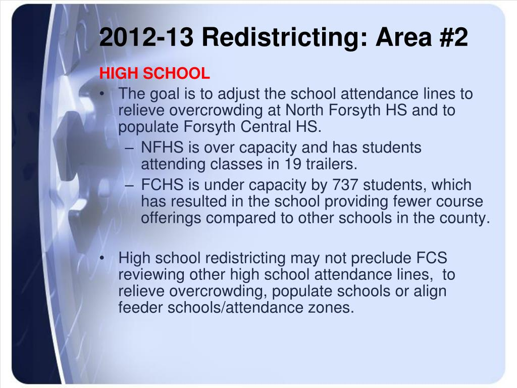 2012-13 Redistricting: Area #2