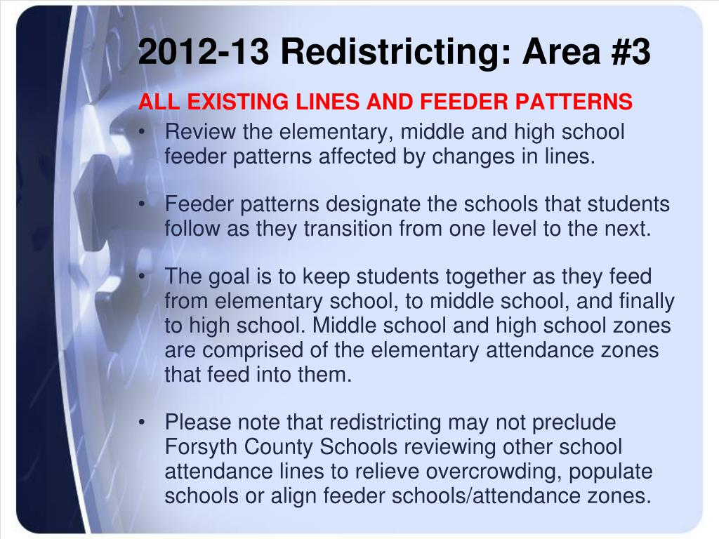 2012-13 Redistricting: Area #3