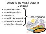 where is the most water in canada20