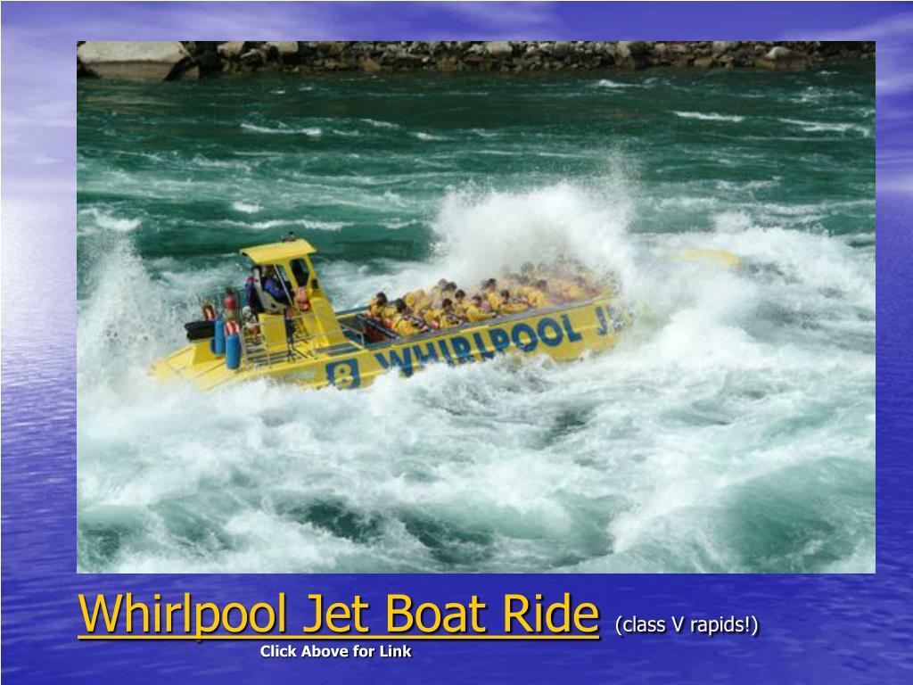 Whirlpool Jet Boat Ride