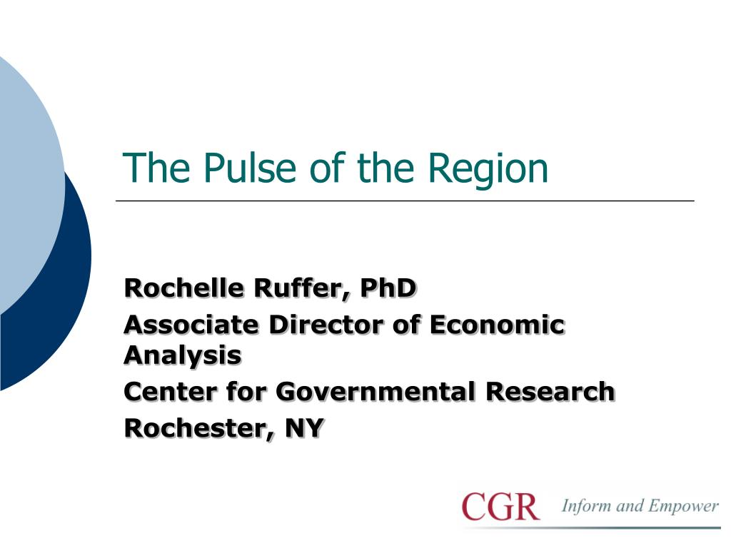 The Pulse of the Region