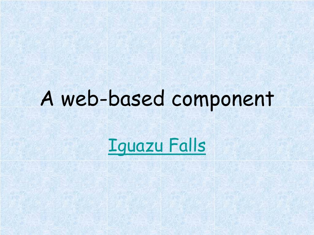 A web-based component