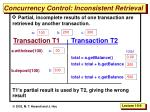 concurrency control inconsistent retrieval