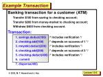 example transaction