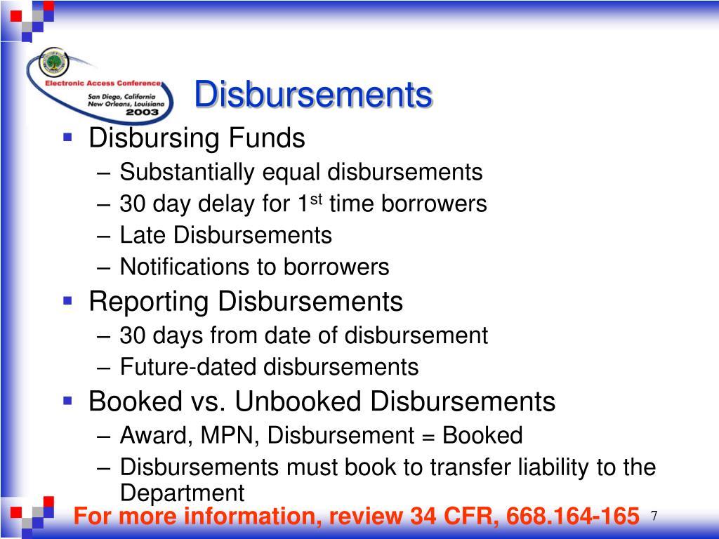 Disbursements