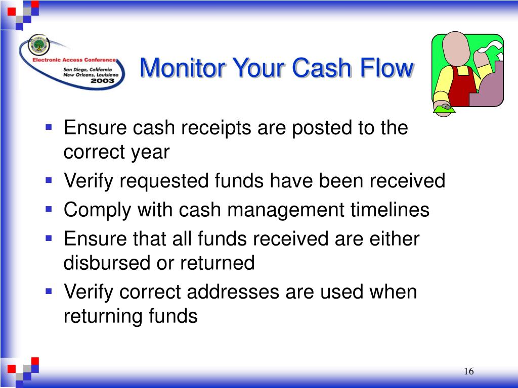 Monitor Your Cash Flow