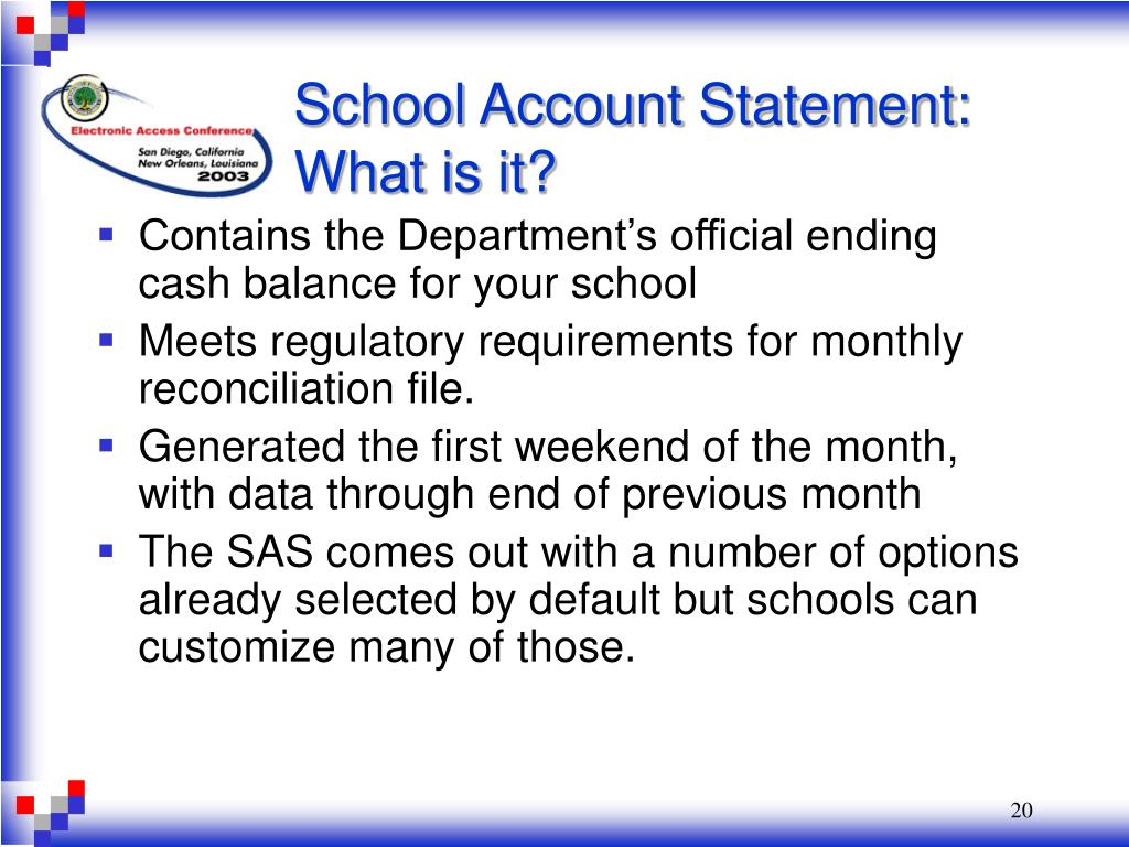 School Account Statement: What is it?