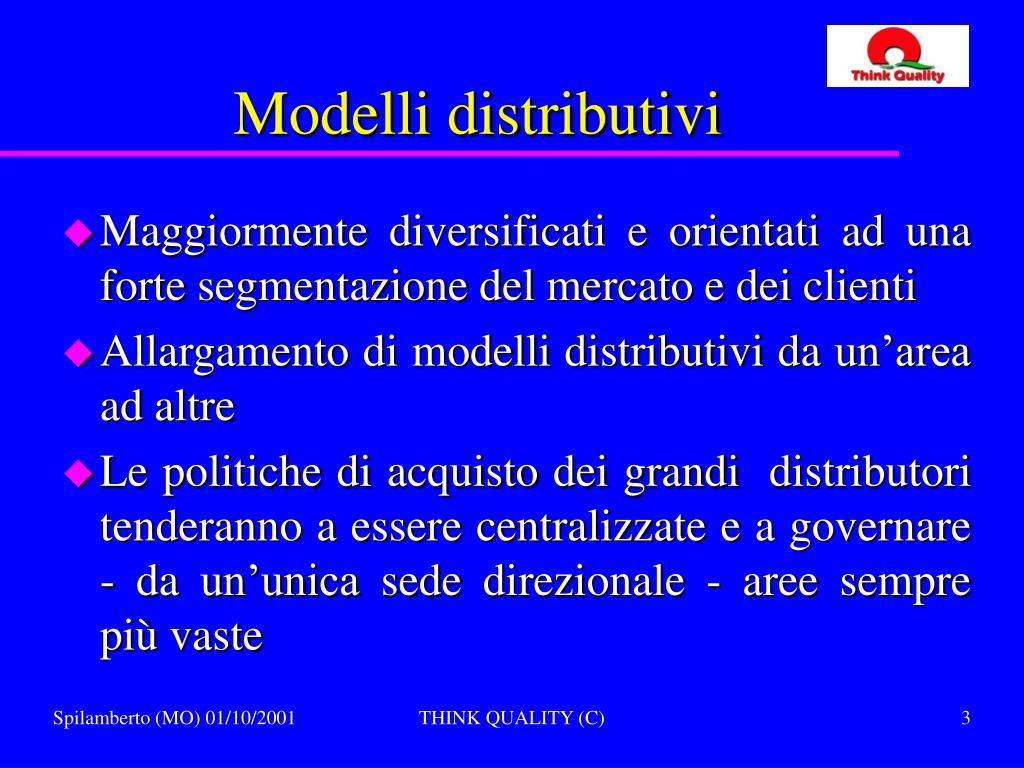 Modelli distributivi