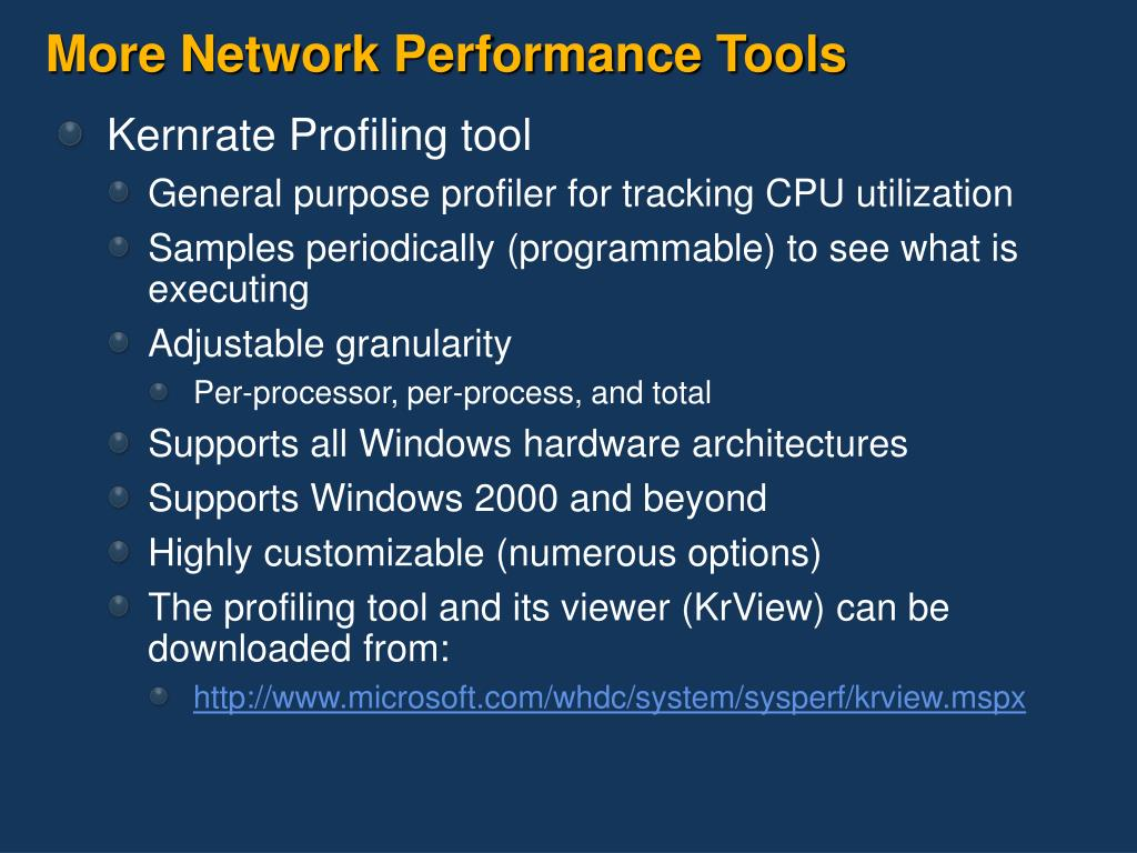 More Network Performance Tools