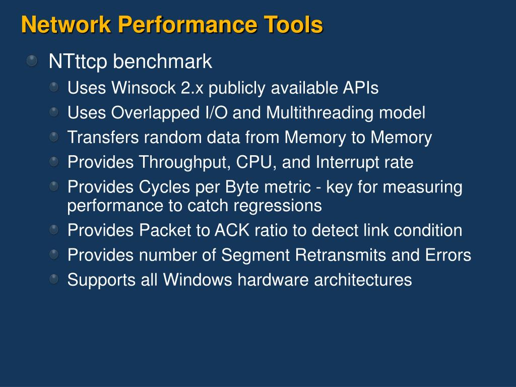 Network Performance Tools
