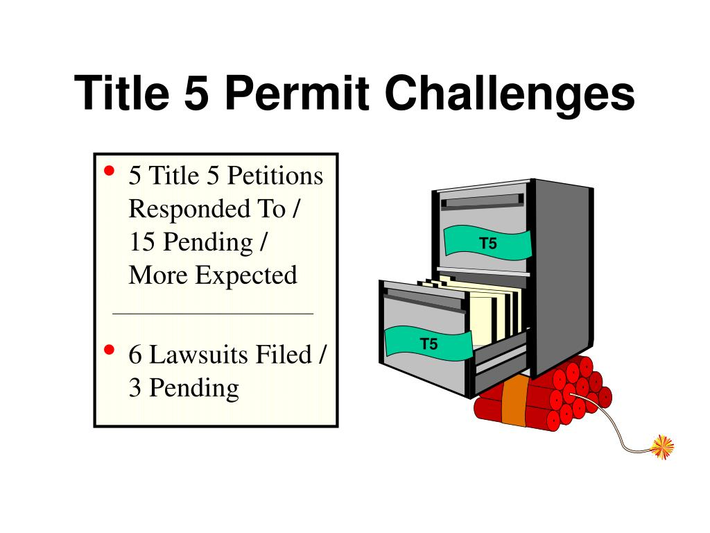 Title 5 Permit Challenges