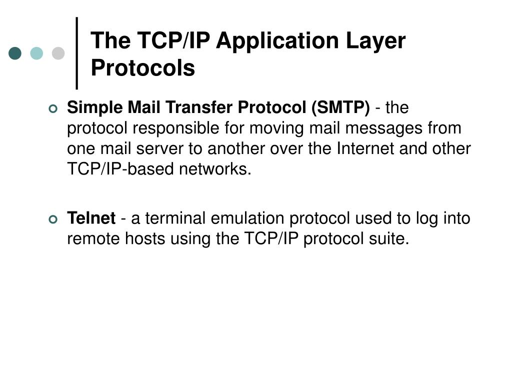 The TCP/IP Application Layer Protocols