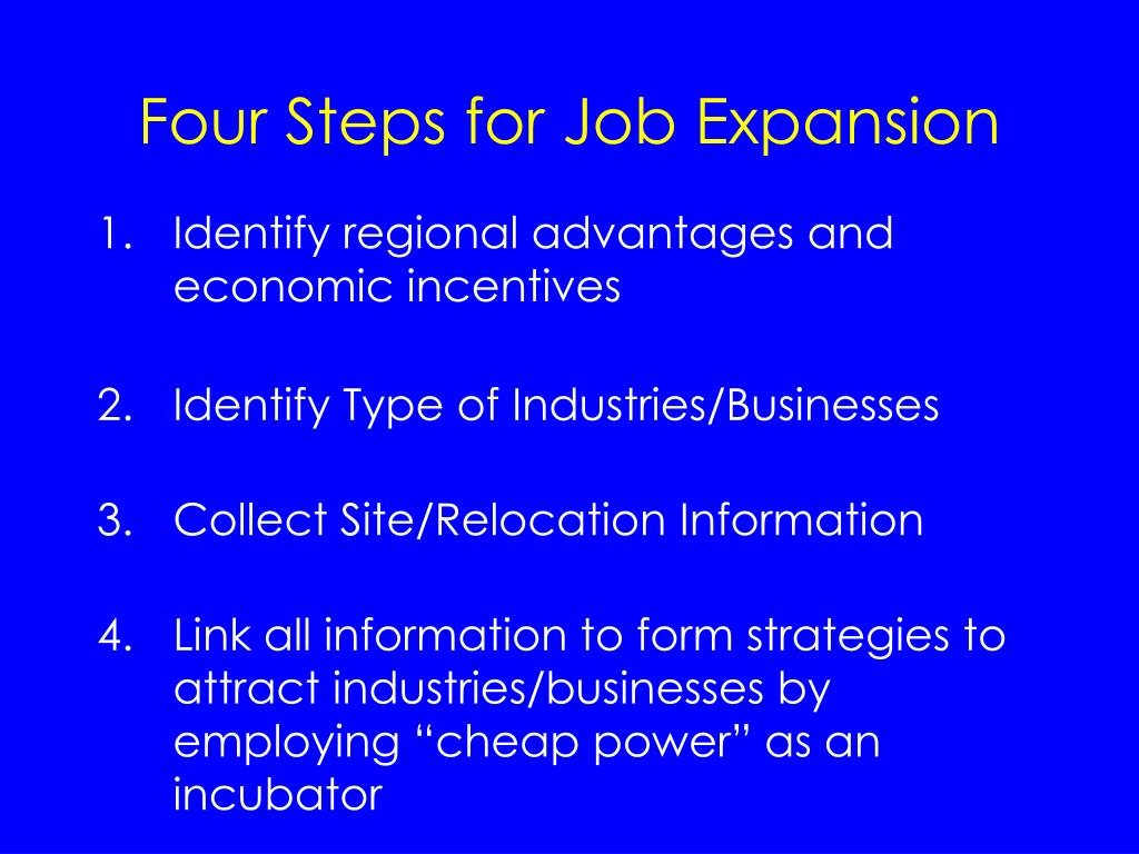 Four Steps for Job Expansion