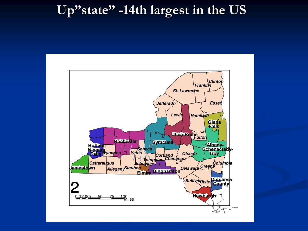"""Up""""state"""" -14th largest in the US"""