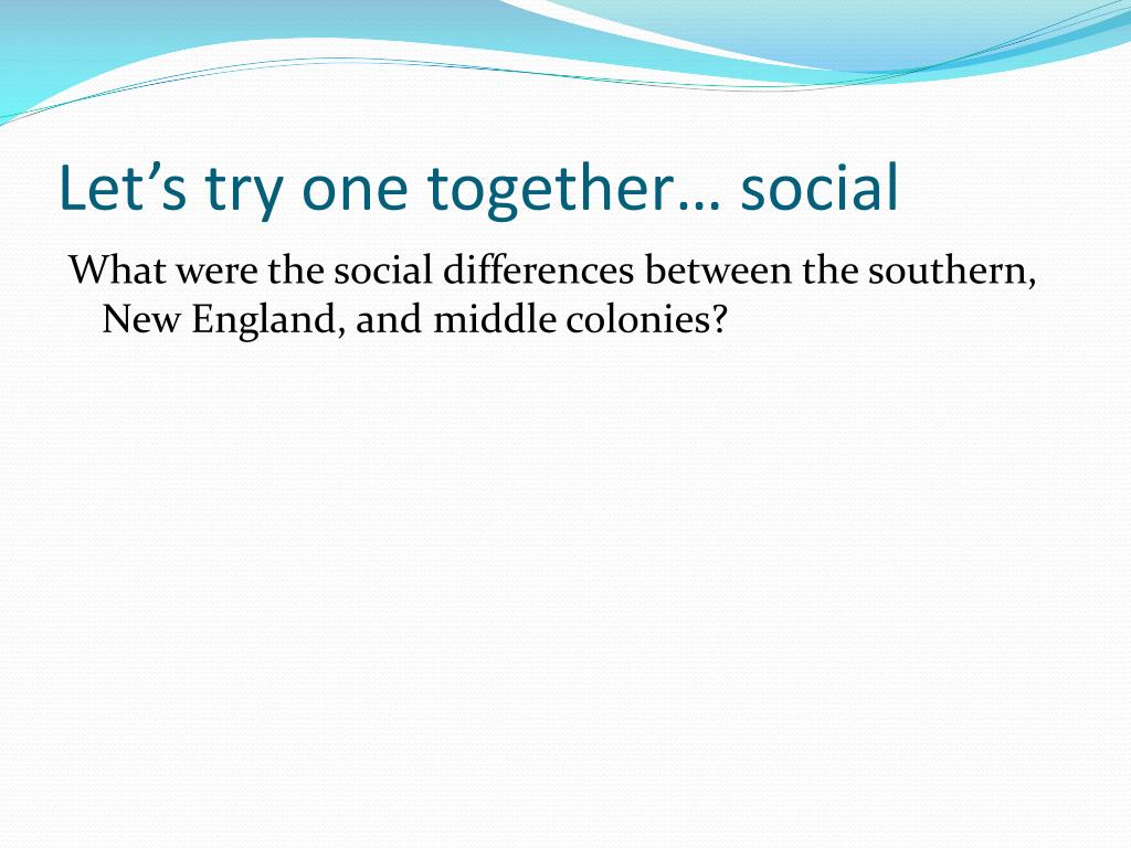 Let's try one together… social