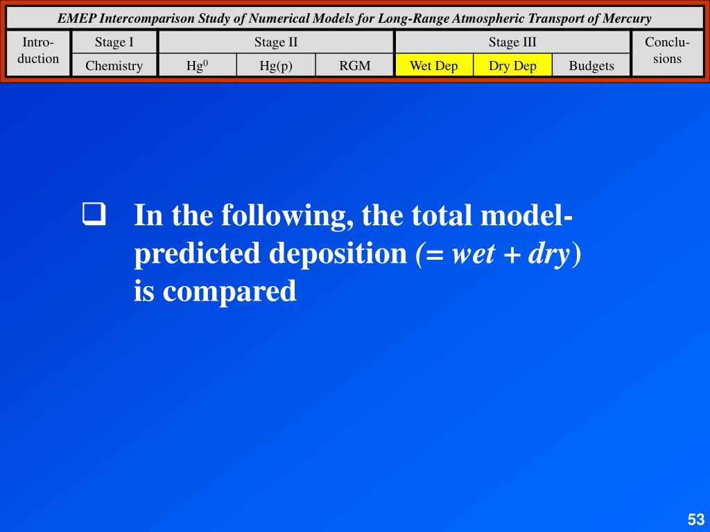 In the following, the total model-predicted deposition