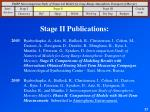 stage ii publications