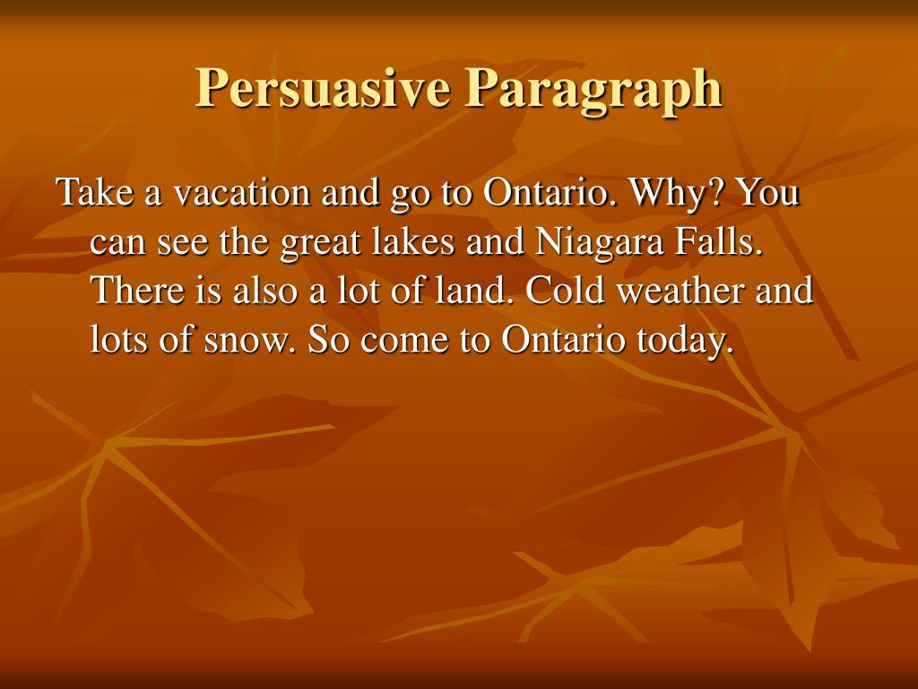 Persuasive Paragraph