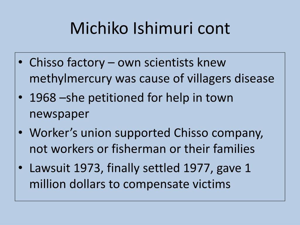 Michiko Ishimuri cont