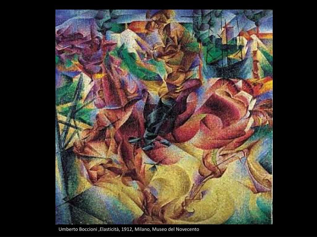 Umberto Boccioni ,Elasticità, 1912, Milano, Museo del Novecento