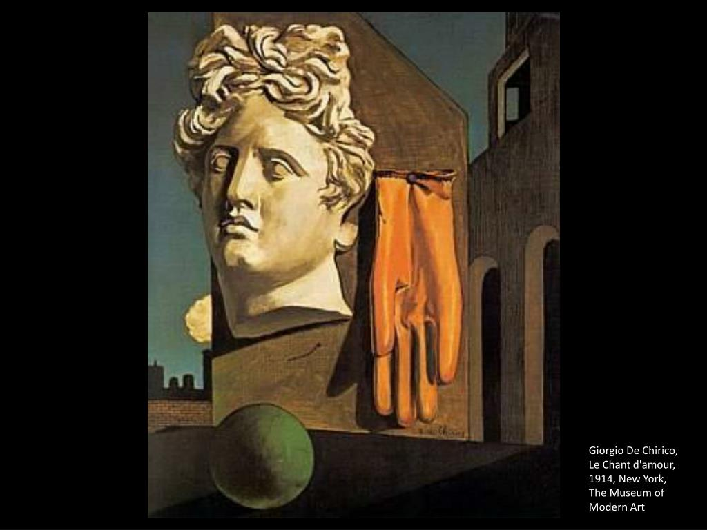 Giorgio De Chirico, Le Chant d'amour, 1914, New York, The Museum of Modern