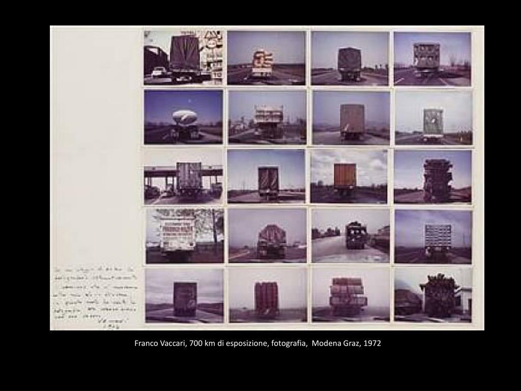 Franco Vaccari, 700 km di esposizione, fotografia,  Modena Graz,1972