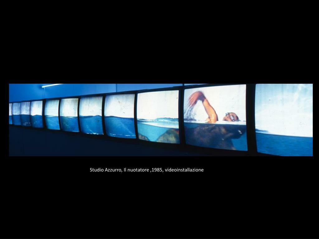 Studio Azzurro, Il nuotatore ,1985, videoinstallazione