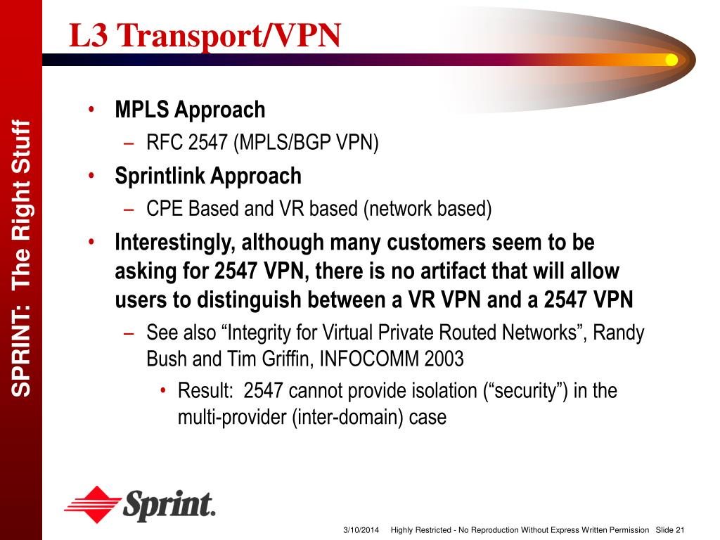 L3 Transport/VPN