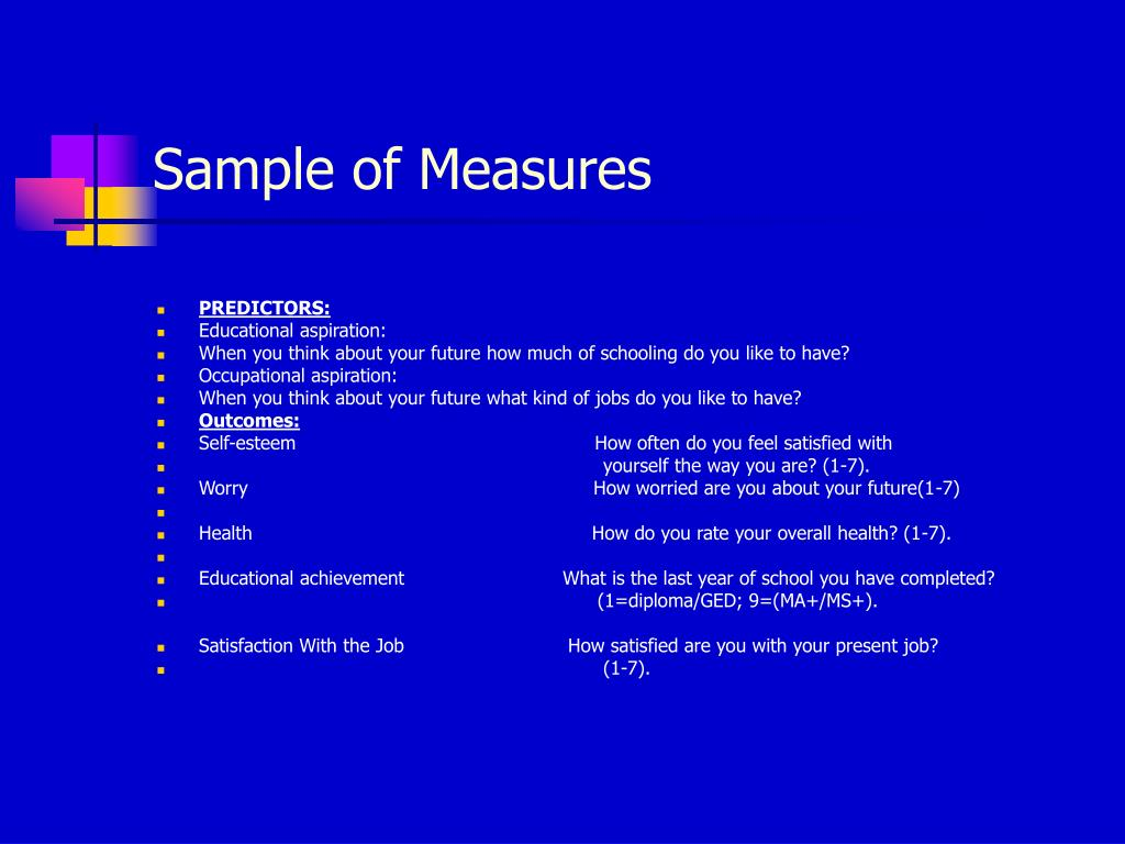 Sample of Measures
