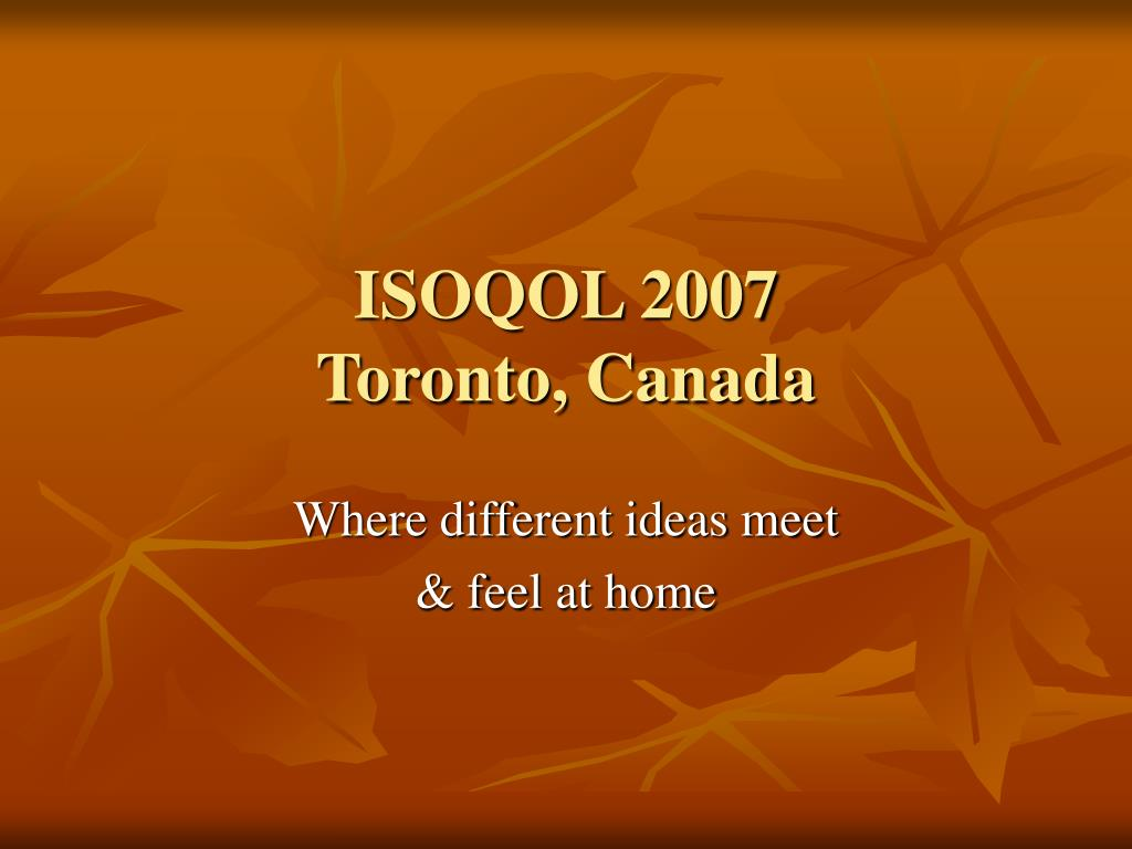 ISOQOL 2007