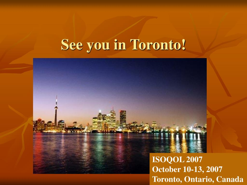 See you in Toronto!