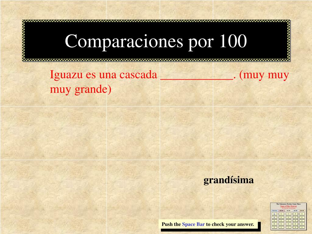 Comparaciones por 100