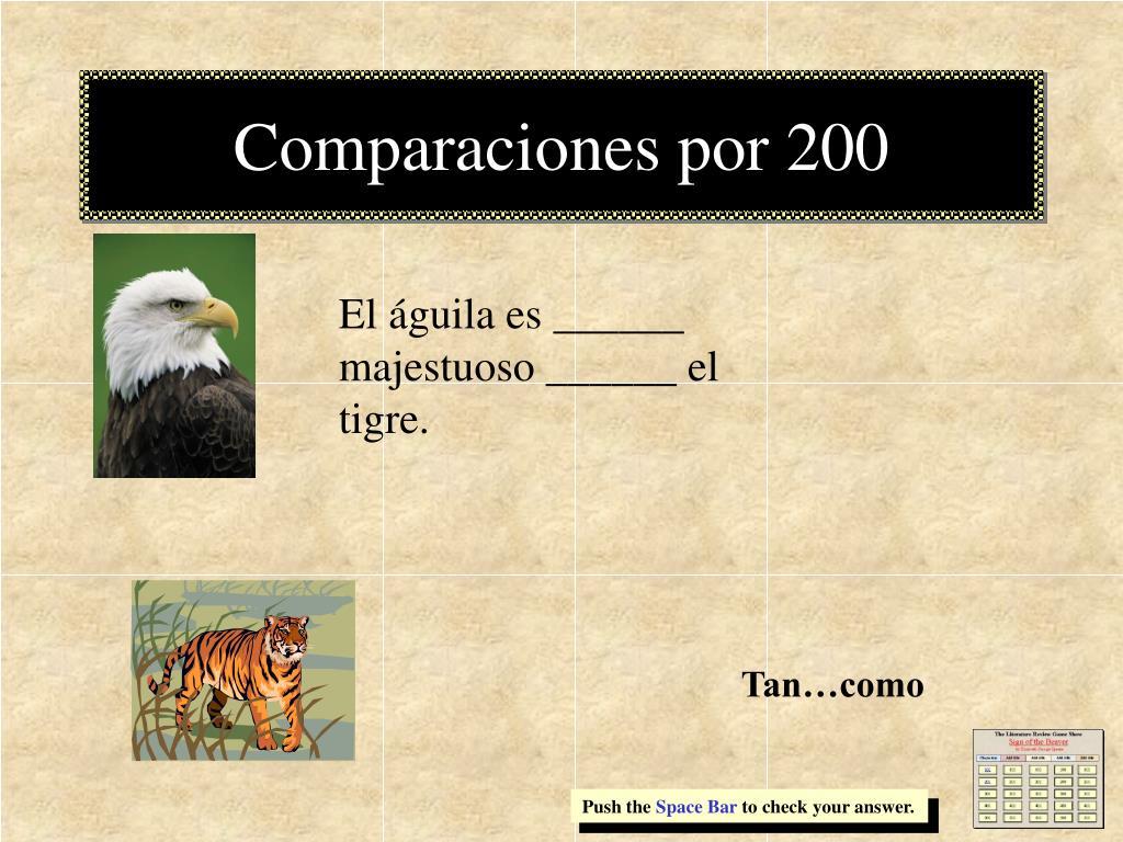 Comparaciones por 200