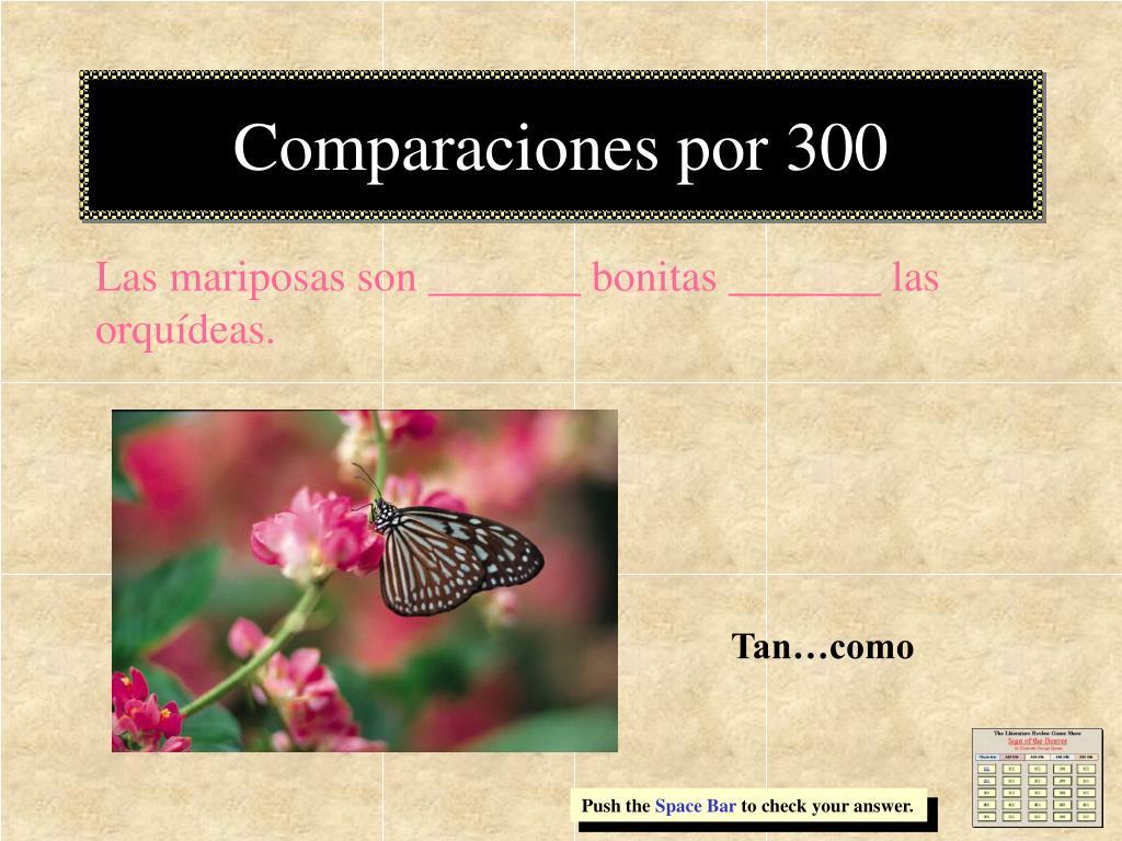 Comparaciones por 300