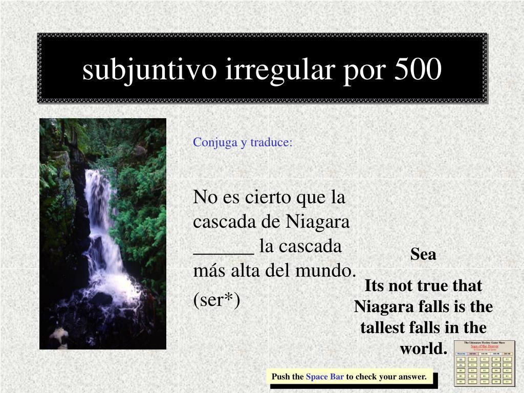 subjuntivo irregular por 500