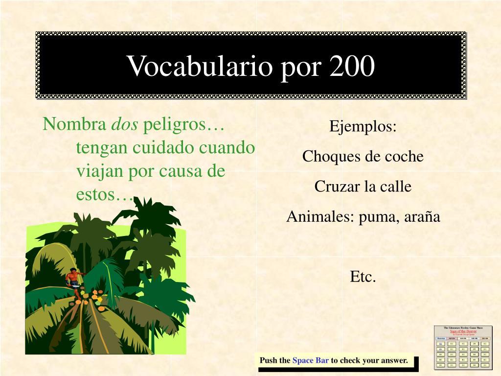 Vocabulario por 200