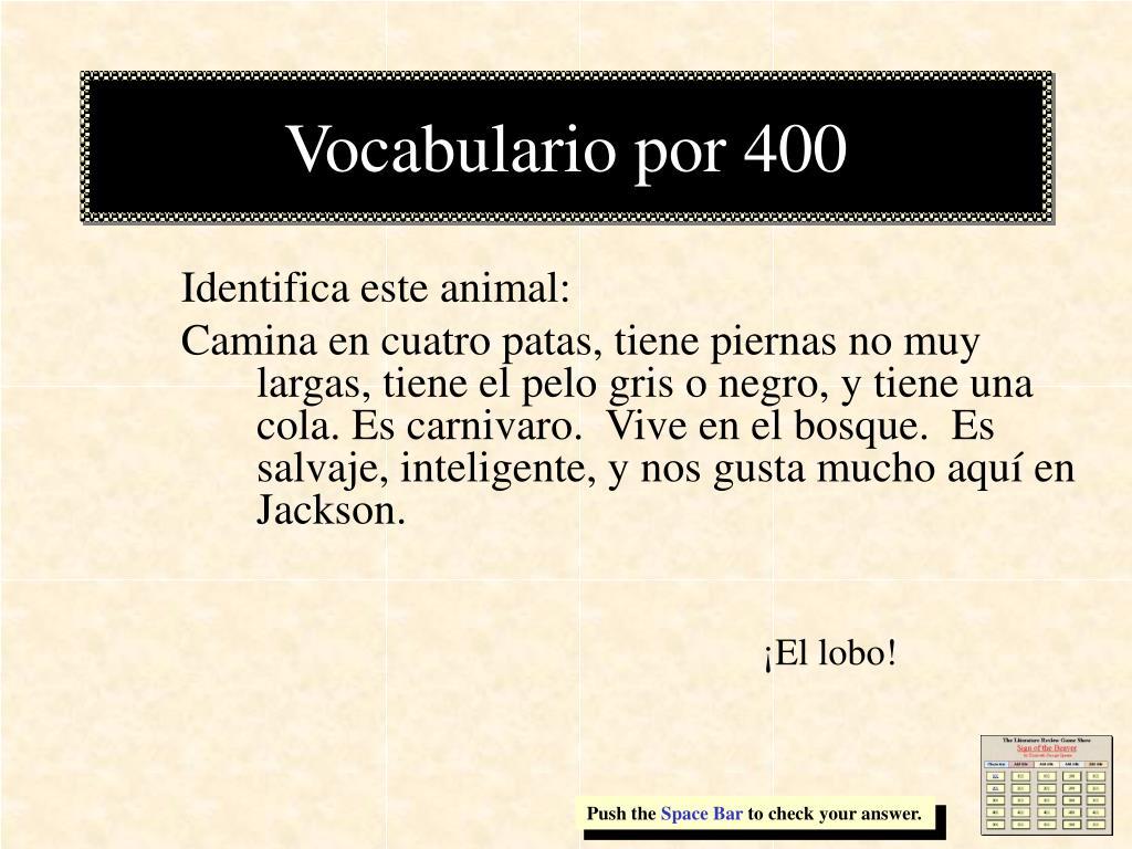 Vocabulario por 400