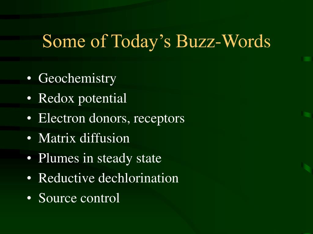 Some of Today's Buzz-Words