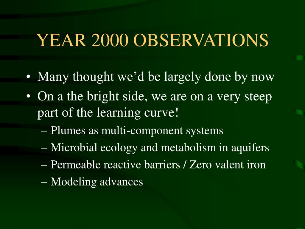 YEAR 2000 OBSERVATIONS