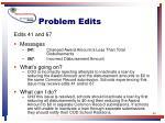 problem edits