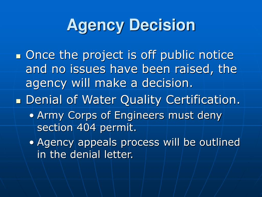 Agency Decision