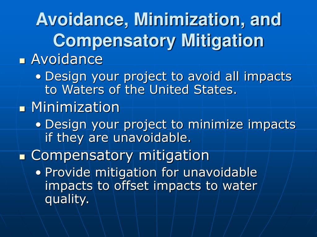 Avoidance, Minimization, and Compensatory Mitigation
