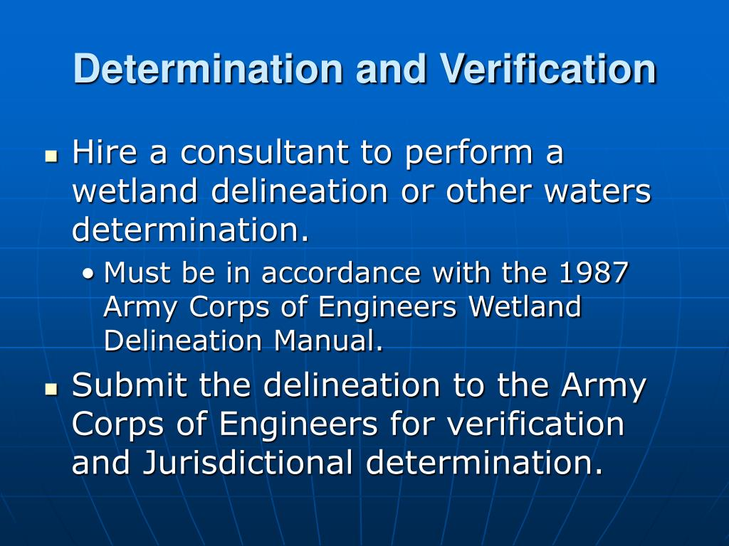 Determination and Verification