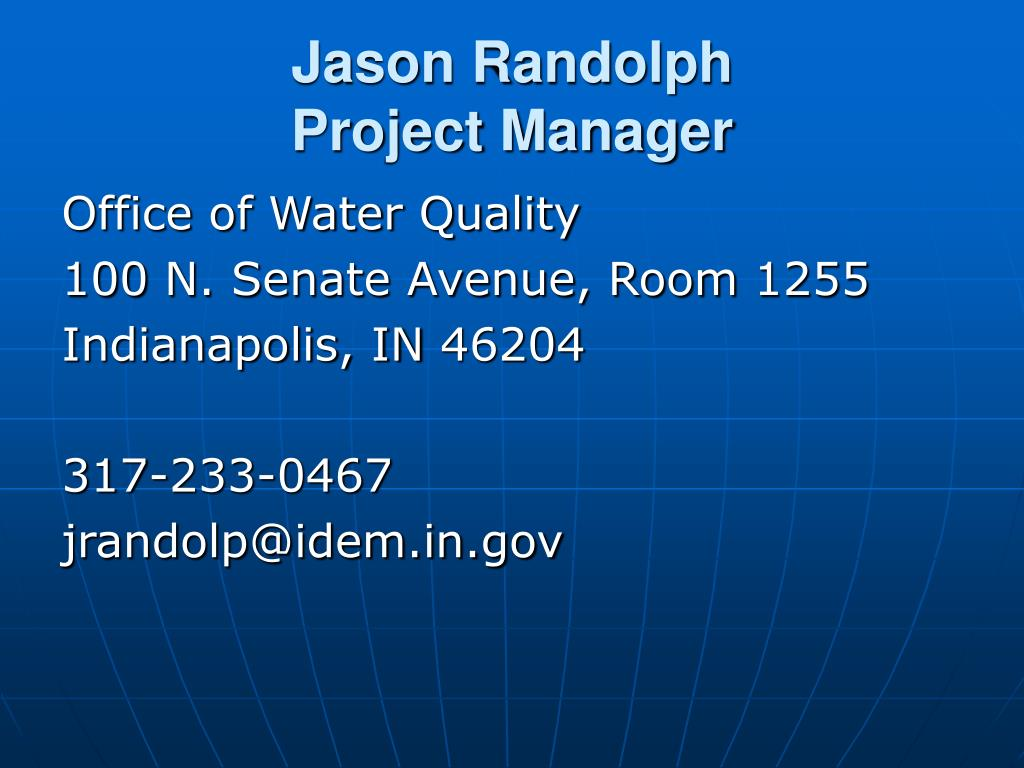Jason Randolph                    Project Manager